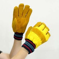 Cotton Chrome Leather Gloves